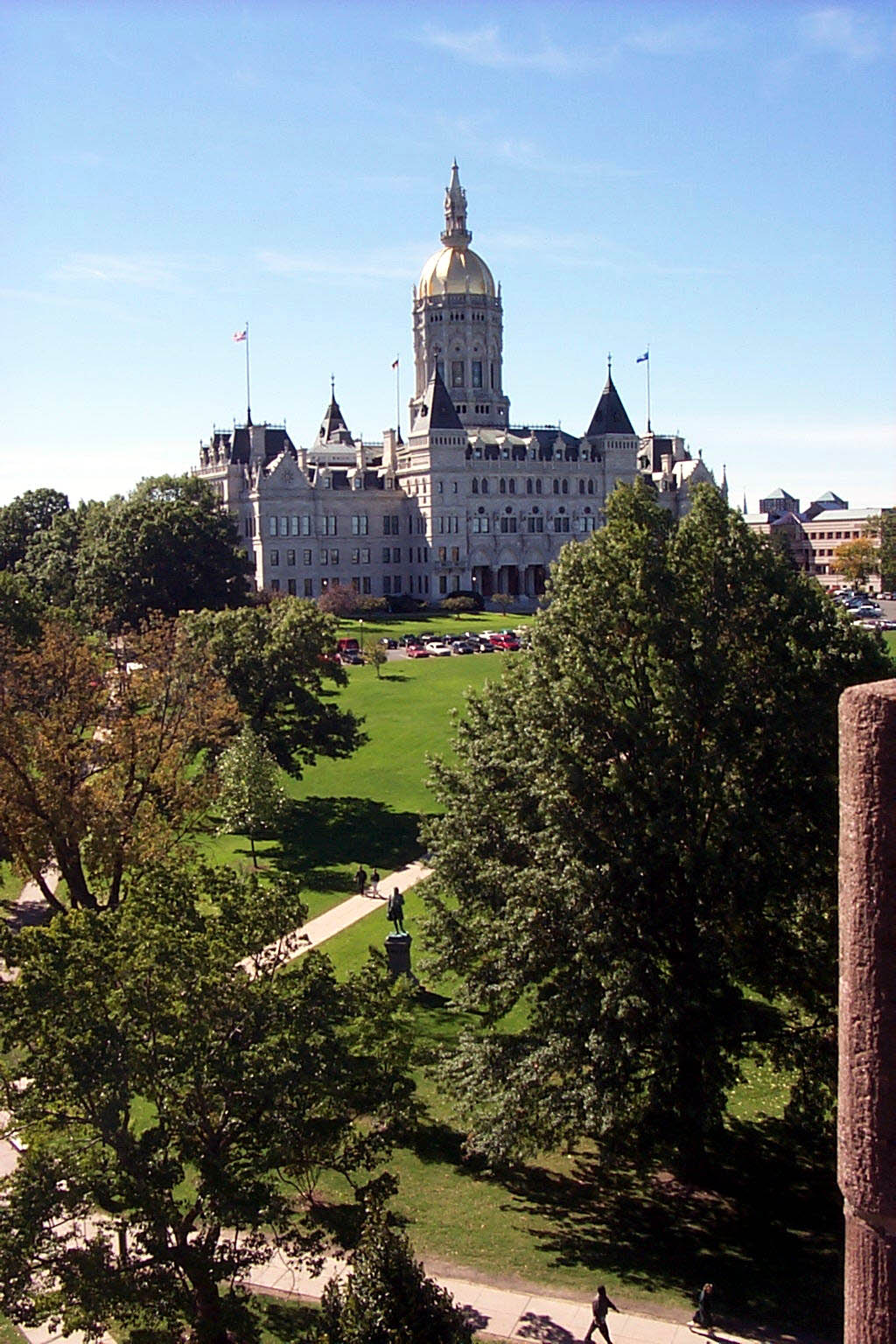 The Capitol as seen from the Soldiers and Sailors Memorial Arch